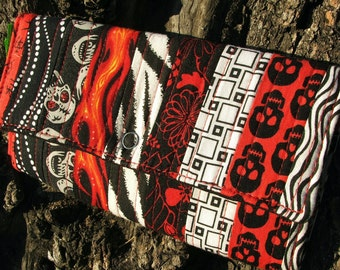 Victorious Vixen Custom Quilted Red Eyed Skull Wallet