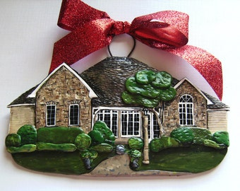 Custom Listing for- SMayer- one Custom House Ornament a delightful replica of your home- Mid October delivery