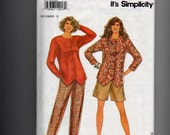 Its So Easy Its Simplicity Sewing Pattern 7977 Size 6-18 Misses Pants Shorts Top 1992