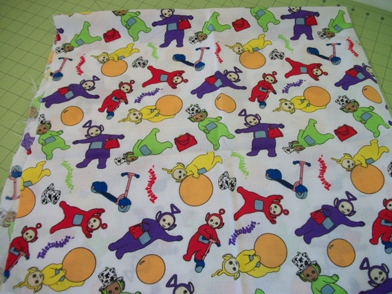 Teletubbies fabric childrens fabric 1 yard for Kids fabric by the yard