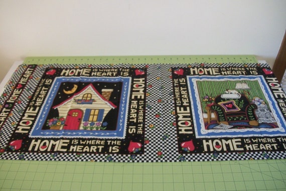 Mary Engelbreit Fabric Home Is Where The Heart Is Panels Pillow Wall Hanging Quilting Projects