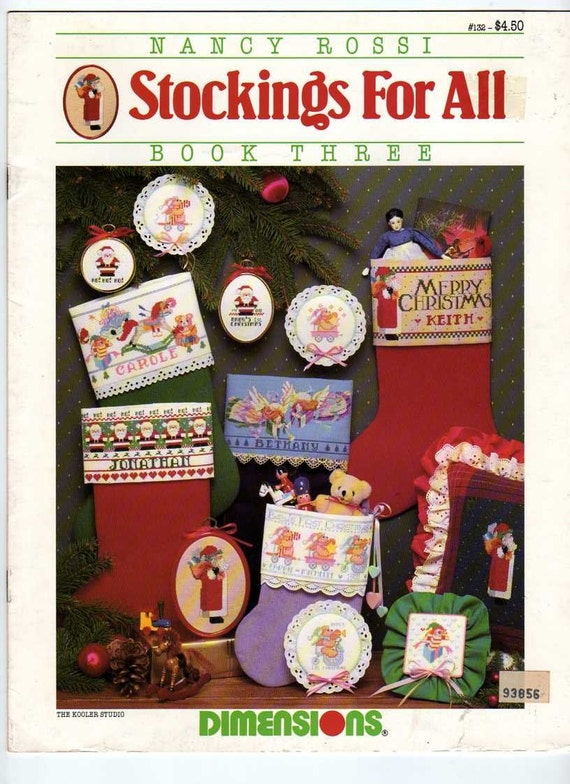 Nancy rossi stockings for all book three counted cross stitch pattern