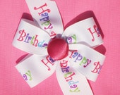 Happy Birthday Bow for XSmall, Small, or Medium Dog Collar--Your Choice of Size