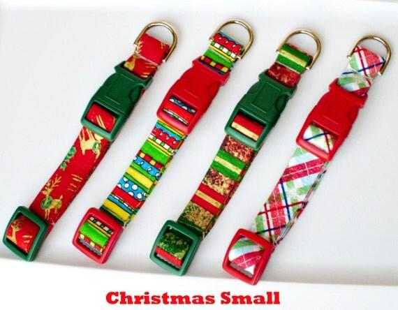 Christmas in July PIF Potluck Christmas Dog Collar Size Small