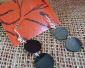 Vinyl Record Earrings