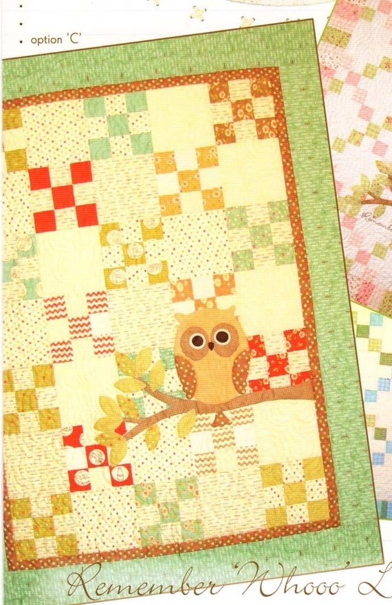 Remember Whooo Loves You Owl Baby Quilt Pattern from Acorn Quilts