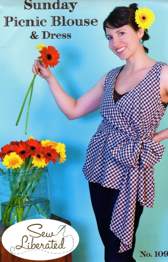 Sunday Picnic Blouse and Dress Pattern from Sew Liberated SALE