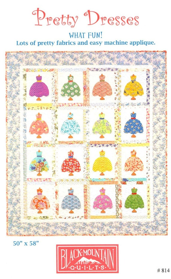 Pretty Dresses Quilt Pattern From Black Mountain Quilts