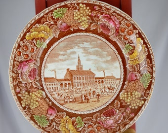 B&D Staffordshire Plate Independence Hall, Philidelpha PA.