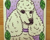 Poodle - Original Painting ACEO