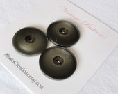 Big Greenish Gray Vintage Coat Buttons