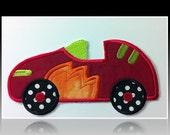 DIY Iron On Applique- Racing Car