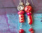 OddGems Asymmetrical Handmade Bead Earings ( Item no.129)
