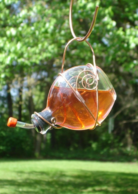 Stained Glass Hummingbird Feeder 1 Of 2 By Deeluxdesigns