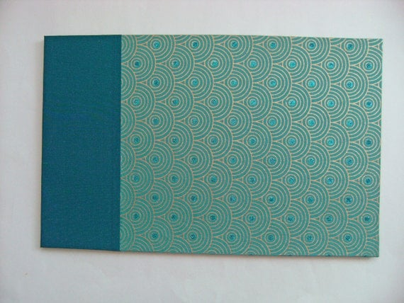 Large Wedding Guest Book in Turquoise - Custom Order for Judi