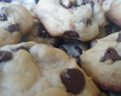one entire batch of the best soft and chewy CHOCOLATE CHIP COOKIES ever    about 35 cookies