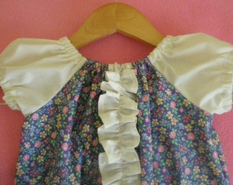 childs shabby chic ruffled peasant dress Ready To Ship size 24 months -2t