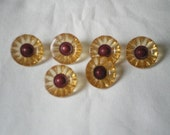 Set of 6 Colored buttons