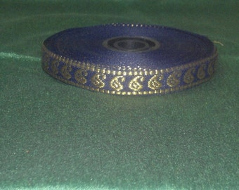 Purple and Gold Paisely Ribbon