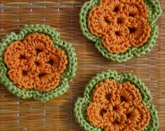 Set of 12 pc Crochet Floral Patches