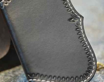 Black Fin 12 wallet  w/chain and fob  - chain wallet