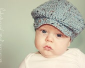 The Donegal, Baby sizes -Irish Cap, Crochet Hat Photo