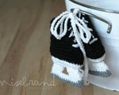 Hockey Skate Booties - Crochet Photo Prop. 4 sizes