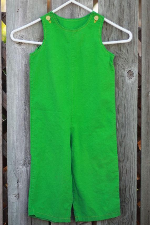 SALE Vintage 2t Overalls - Green