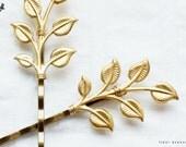Leafy - Golden Leaf Hair Pin