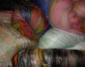PIF QUAD SHOT Fiber Lottery  8oz or more ... fiber for spinning, felting, crafting