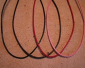 18 Inch Adjustable Leather Cord Necklace in Black, Dark Brown, Red, or Pink