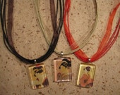 26 Inch Organdy Ribbon and Cord Necklace with Adjustable Chain in 8 Colors