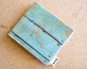 Mens Wallet -Blue Woodgrain