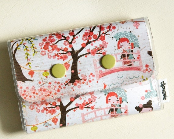 Women's Wallet - Cherry Blossom double snap