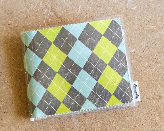 Argyle Mens Wallet - Slim Vinyl Wallet