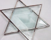 Stained Glass Beveled Star Of David