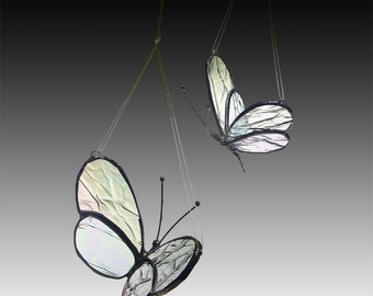 Two Stained Glass Butterflies - Mother/Daughter, 2 sizes -Timeless Keepsakes