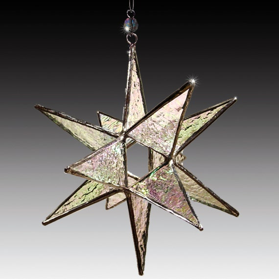 Star Decorations For Home: Stained Glass Moravian Star Home Decor Choose Your Color