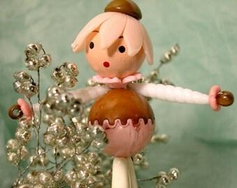 post card - Bead Doll - original photo