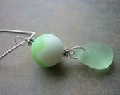 Sea Glass Necklace -Marble Beach Seaglass Pendant Jewelry