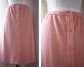 prim and pretty peach skirt