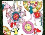 Planet Saver Sack Girlie Bag Alexander Henry Dandy Girls Cotton Canvas Purse
