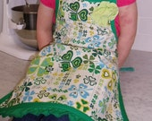 Saucy-Wear Children's Shamrock Clover Apron