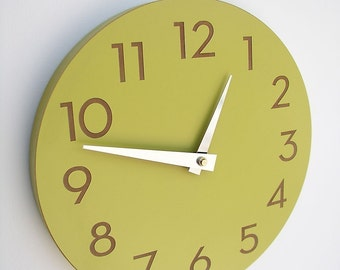 10 inch medium size modern wall clock with numbers