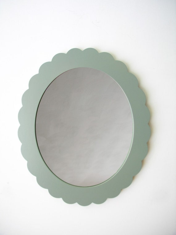 large scallop mirror in your color of choice