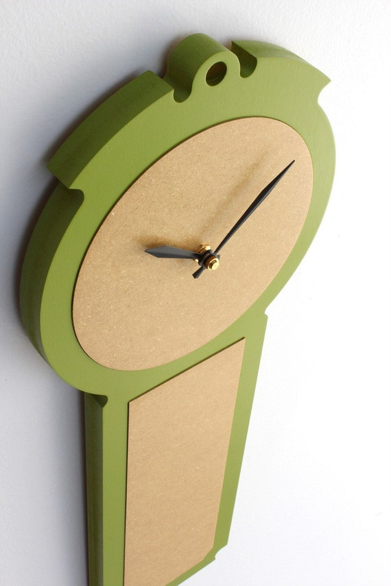 modern colonial wall clock in apple green