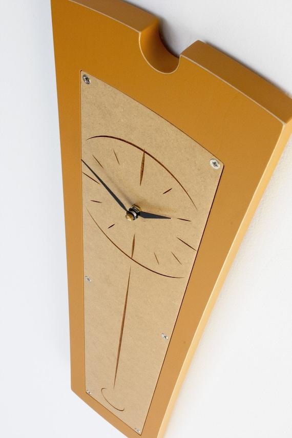 modern pendolo clock - sunny saffron