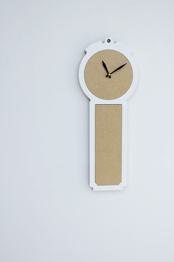 modern wall clock - the colonial in fresh white