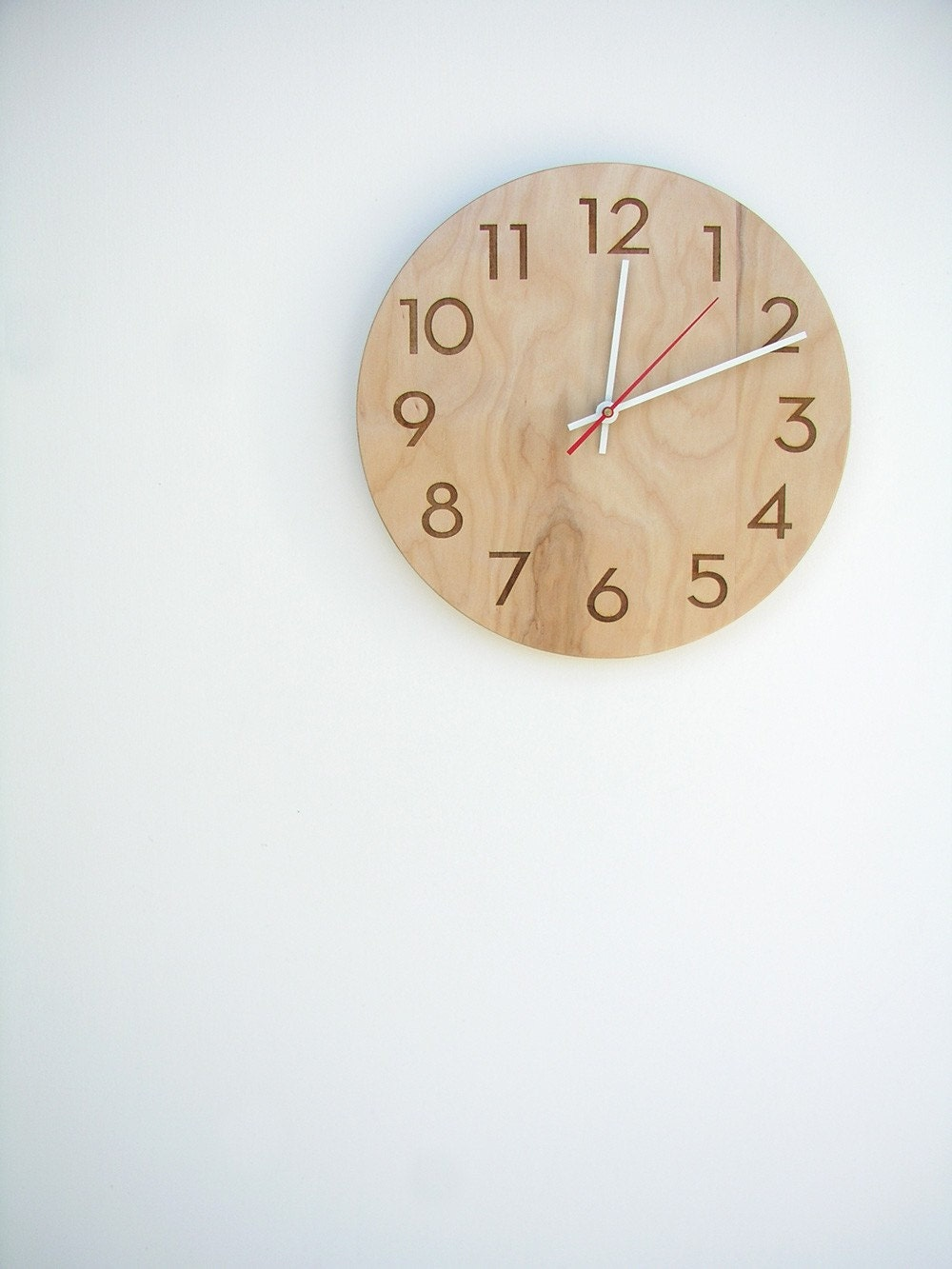 10 inch medium size modern wood wall clock with beautiful natural wood wall clock with beautiful natural woodgrain and classy modern numbers gallery photo gallery photo gallery photo gallery photo gallery photo amipublicfo Image collections