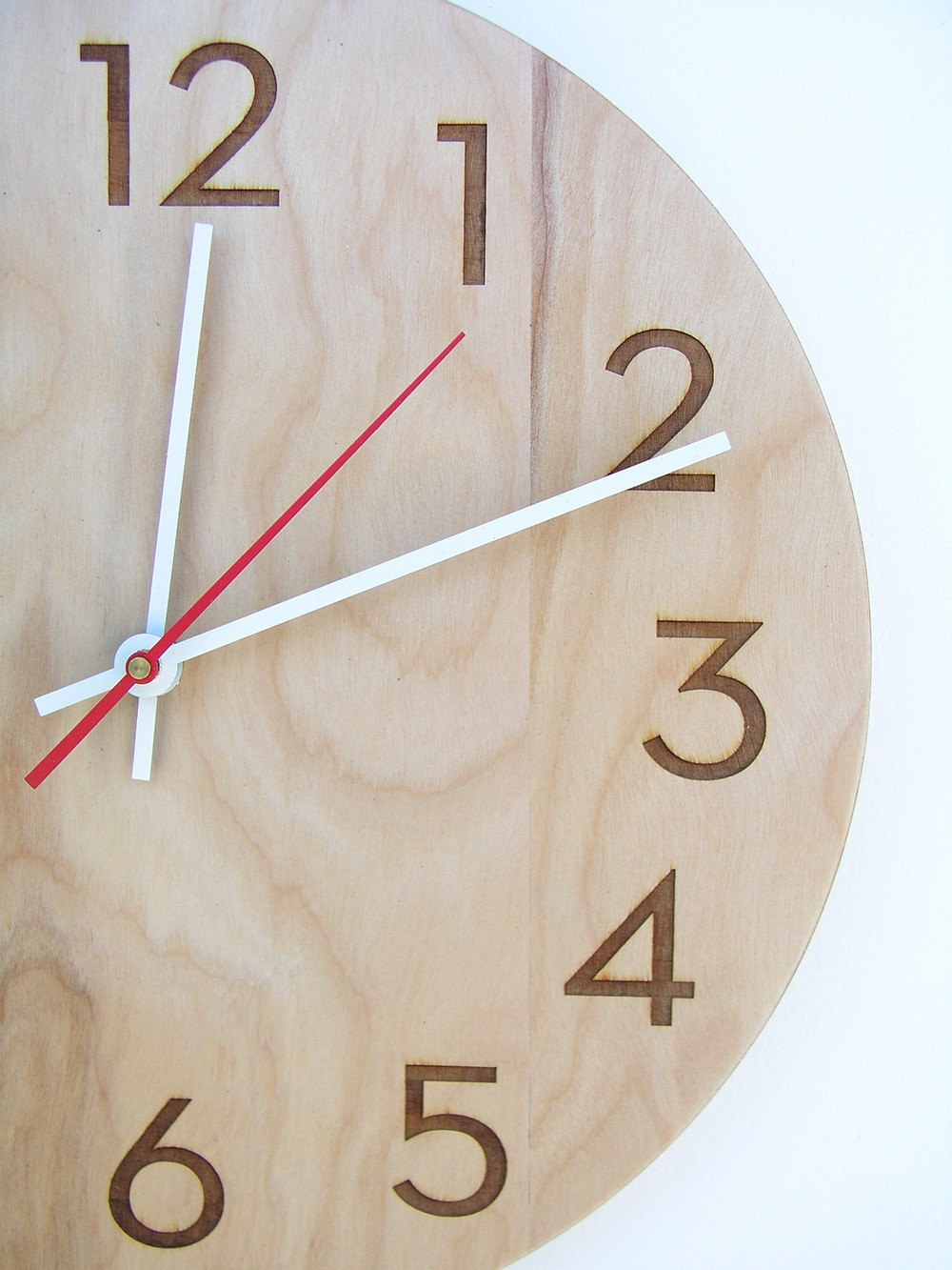inch medium size modern wood wall clock with beautiful - 🔎zoom